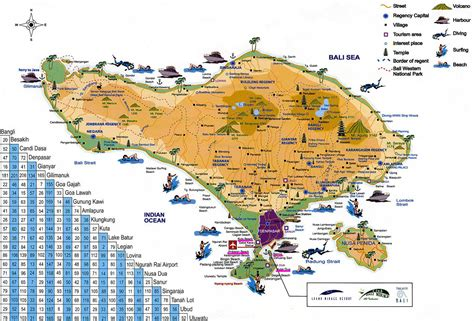 bali tourist map bing