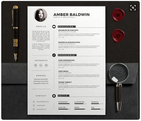 modern resume templates docx   recruiters awe