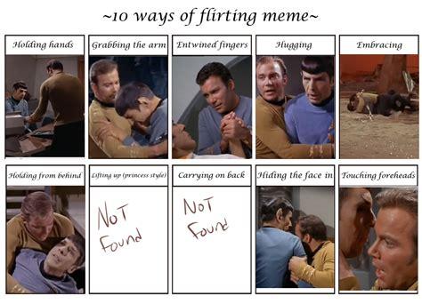 Star Trek Tos Memes - spirk tos flirt meme by simplykaren on deviantart