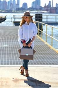 Women's Blue Vertical Striped Dress Shirt, Navy Skinny ...