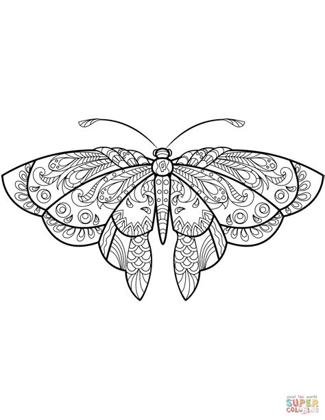 butterfly coloring pages zentangle butterfly coloring page free printable