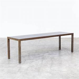 90s baxter blue steel coffee table barbmama With blue metal coffee table