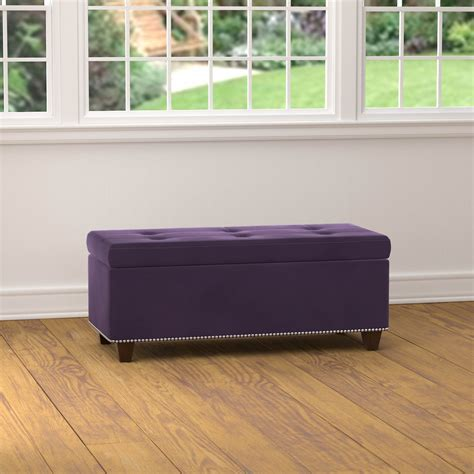 Handy Living Storage Ottoman Bench  Purple Velvet Bj's