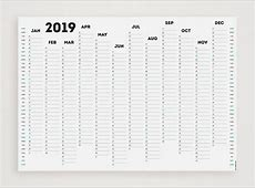 WHITE OUT 2019 Wall Planner Etsy