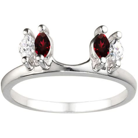 traditional marquise ring wrap enhancer with and created ruby ebay