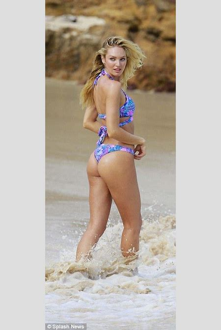 Victoria's Secret's Candice Swanepoel and Behati Prinsloo wear bikinis | Daily Mail Online