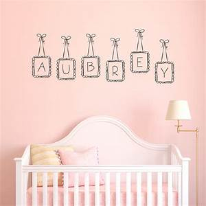 Custom name wall decals personalized baby nursery name for Custom wall letter stickers