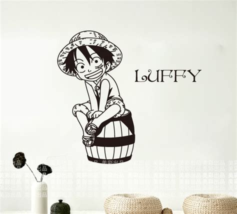 piece wall stickers japanese cartoon luffy mural art