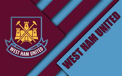 Download wallpapers West Ham United FC, logo, 4k, material ...