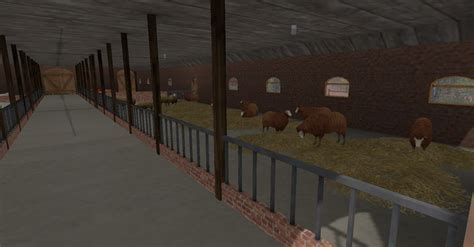sheep barn   thatched roof   mod