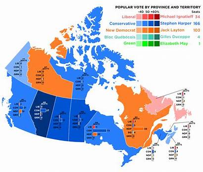 Canada Election Map Political Canadian Government Party