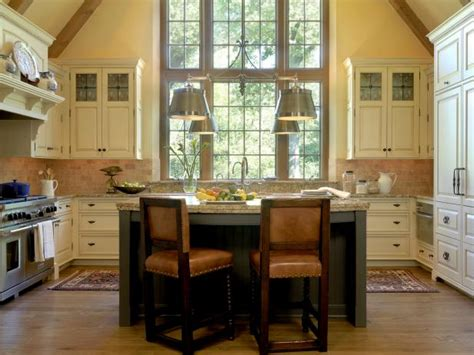 english manor styled kitchen  high ceilings hgtv