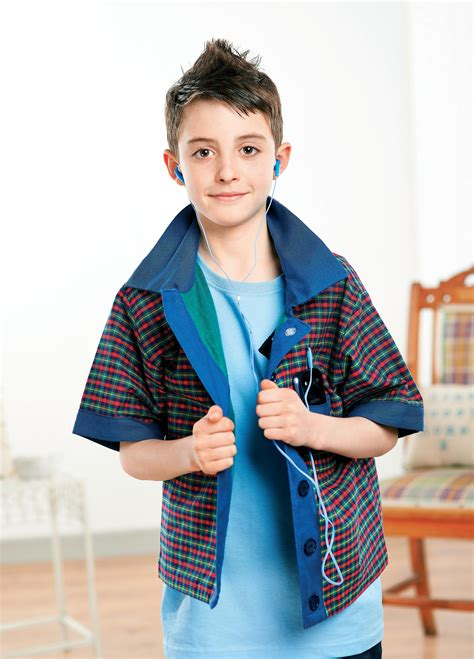 young boys casual checked shirt  sewing patterns