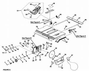 Craftsman Model 315284620 Table Saw Genuine Parts