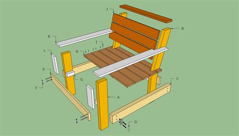 outdoor chair plans howtospecialist how to build step