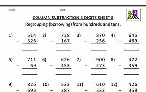 42 Math Worksheet Generator Subtraction