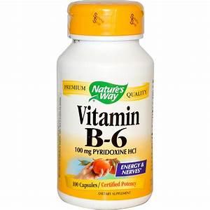 Nature's Way, Vitamin B-6, 100 Capsules - iHerb.com
