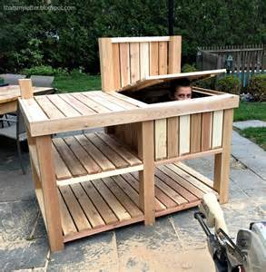 that s my letter outdoor bar potting bench