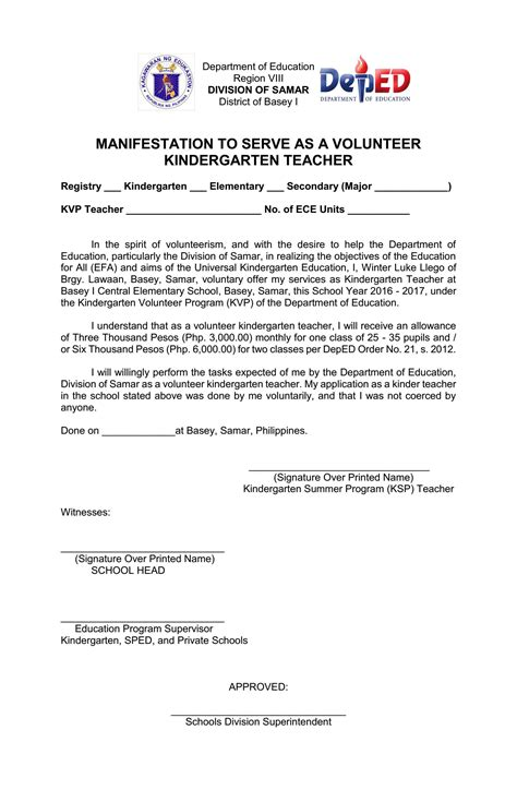 application letter  teacher deped sample application