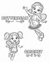 Coloring Pages Cafe Printable Butterbeans Butterbean Print sketch template