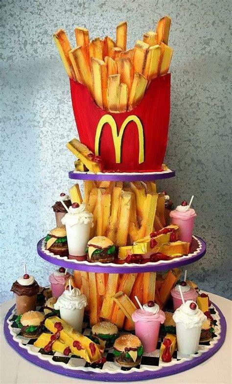 Mcdonald's Cake  So Cute  Pinterest Cakes