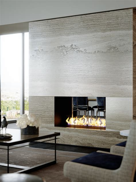 Kamin In Wand by Luxury Waterfront Condominium With Expansive Views Of Nyc