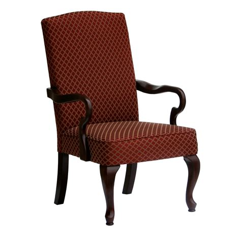 high back upholstered accent chair with black wooden