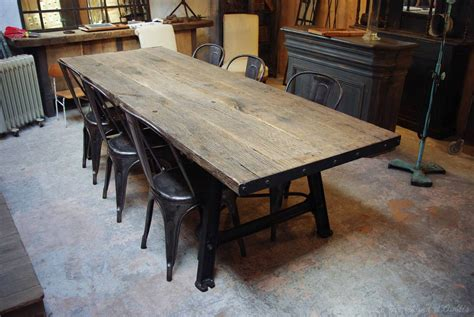 table en bois industriel table industrielle m 233 tal bois par le marchand d oublis