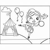 Walker Tightrope Circus Winking Coloring Printable sketch template