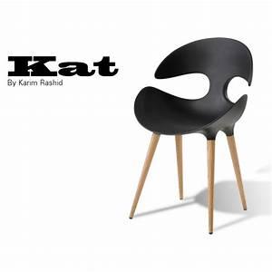 Chaise Noire Design : chaise design coque kat assise plastique couleur pi tement bois ~ Teatrodelosmanantiales.com Idées de Décoration