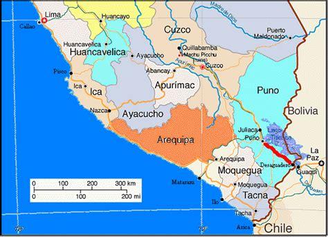 america west coast south map peru maps southamerica teasers worldbike