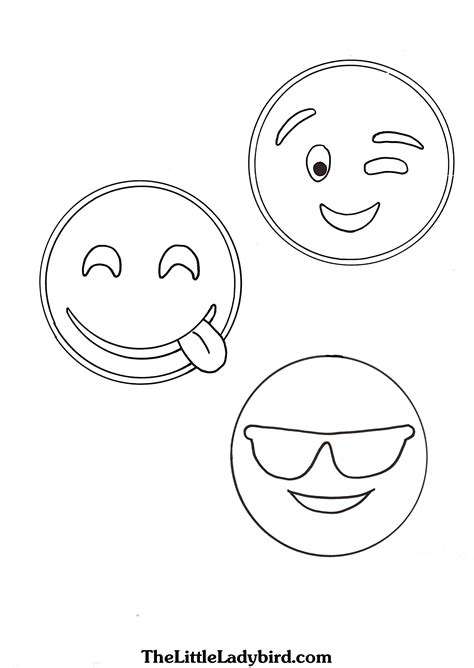 emoji coloring pages thelittleladybirdcom