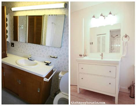 ideas for small bathrooms makeover thrifty bathroom makeover with an ikea hemnes vanity