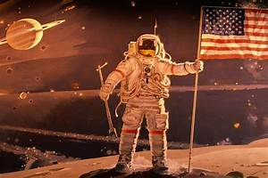 Ohio Astronaut Holding Flag (page 2) - Pics about space