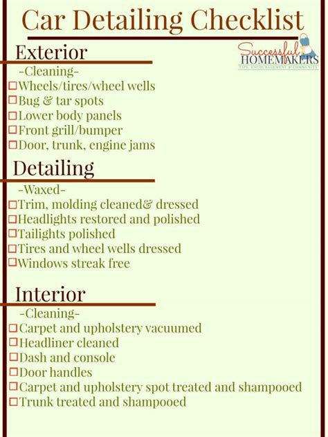 car detailing price list template price sheet template template business