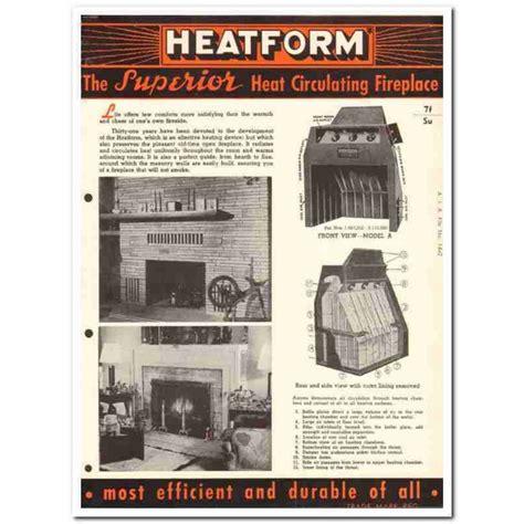 superior fireplace company  asbestos heatform vintage