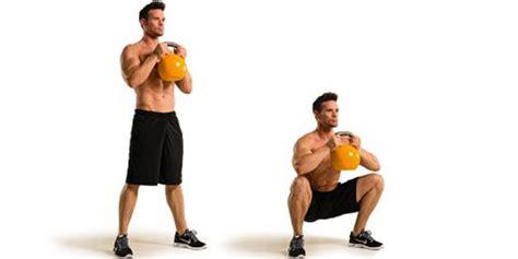 squat kettlebell goblet workout exercise press hold