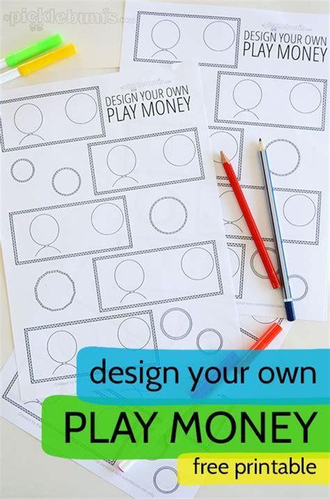design   printable play money printable play