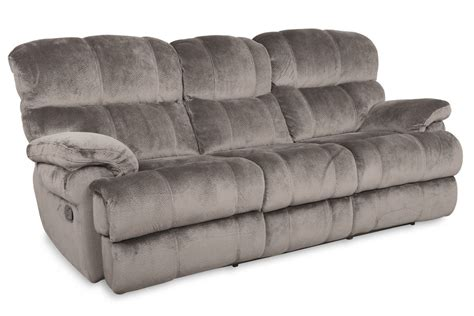 reclining sofa microfiber smoky microfiber power reclining sofa at gardner white