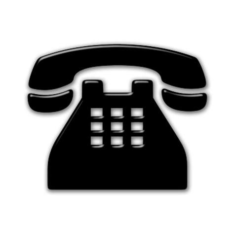 black phone number traditional telephone phone icon 086364 187 icons etc