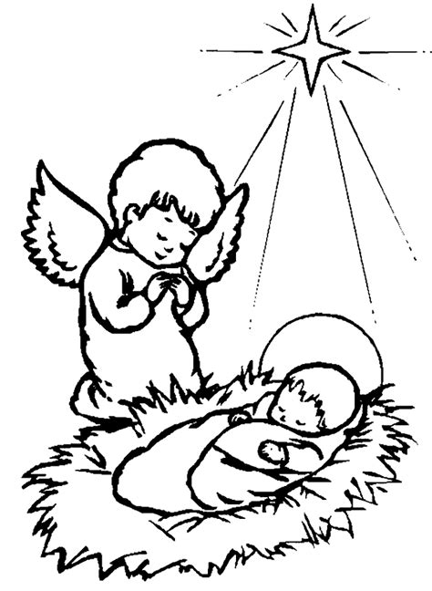 coloring page christmas bibel coloring pages