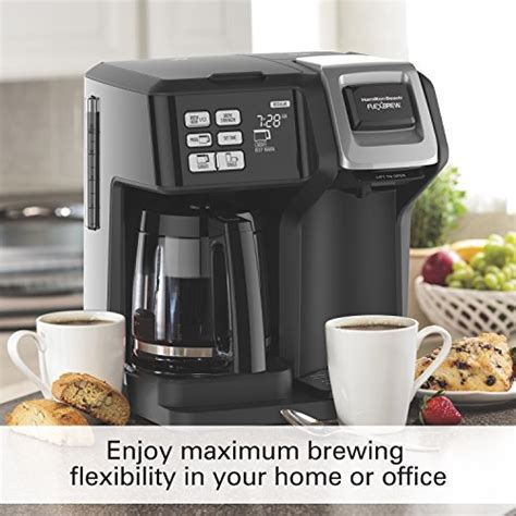 I am however disappointed because the box i received didn't have the grounds basket for the single side cup like it was suppose to come with. Hamilton Beach 49976 Flex brew 2-Way Brewer Programmable Coffee Maker, Black | eBay