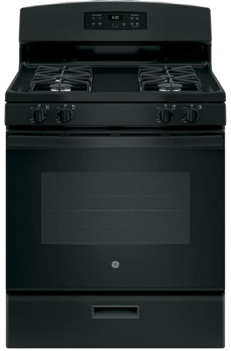 jgbsdekbb ge   standing range   cu ft capacity  sealed cooktop burners black