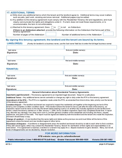 residential tenancy agreement british columbia free download