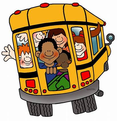 Bus Clipart Clip Martin Phillip Transparent Schoolbus