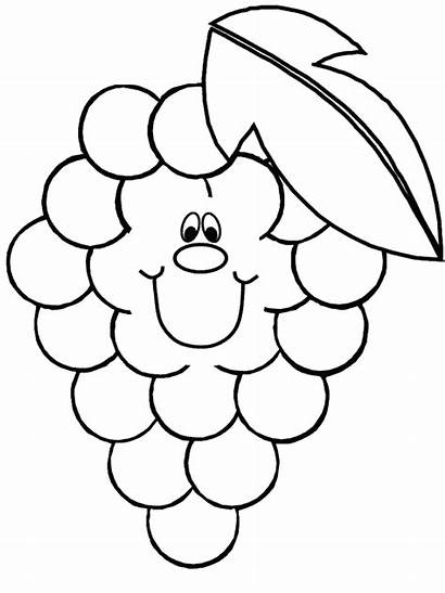 Coloring Healthy Pages Letter Grapes Clipart Colouring