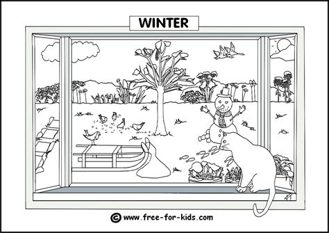Seasons Colouring Pages