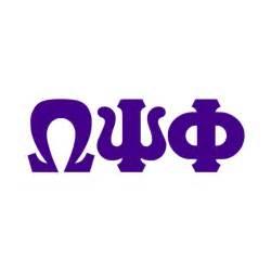 Omega Psi Phi Greek Letters