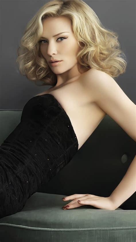 Cate Blanchett Black Dress Wallpaper   Free iPhone Wallpapers