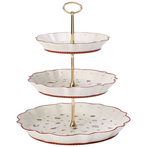 tiered serving stand  tier rectangular serving platter  tiered cake tray stand food